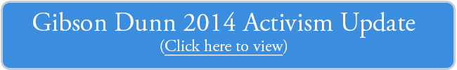 2014 Activism Update - click here to download PDF