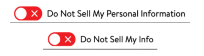 Do Not Sell Provision Buttons
